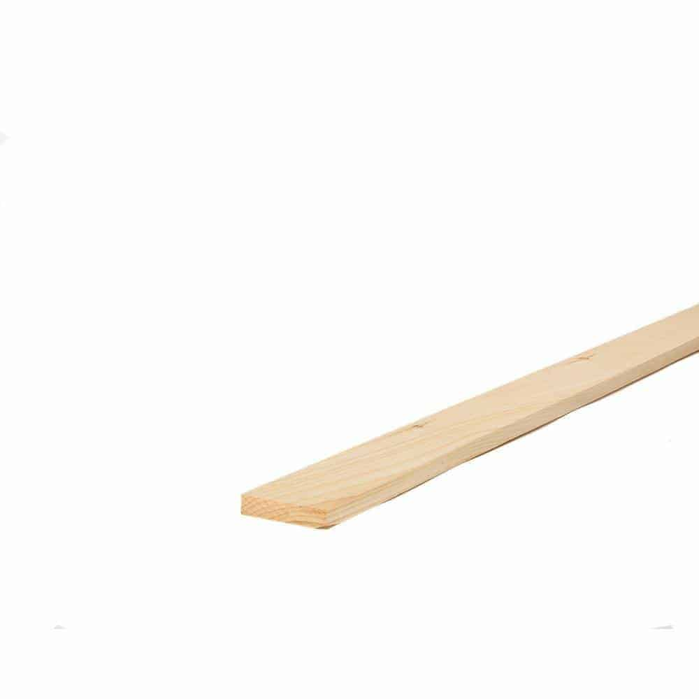 1x4in x 8ft Premium Kiln Dried Square Edge Whitewood Common Board
