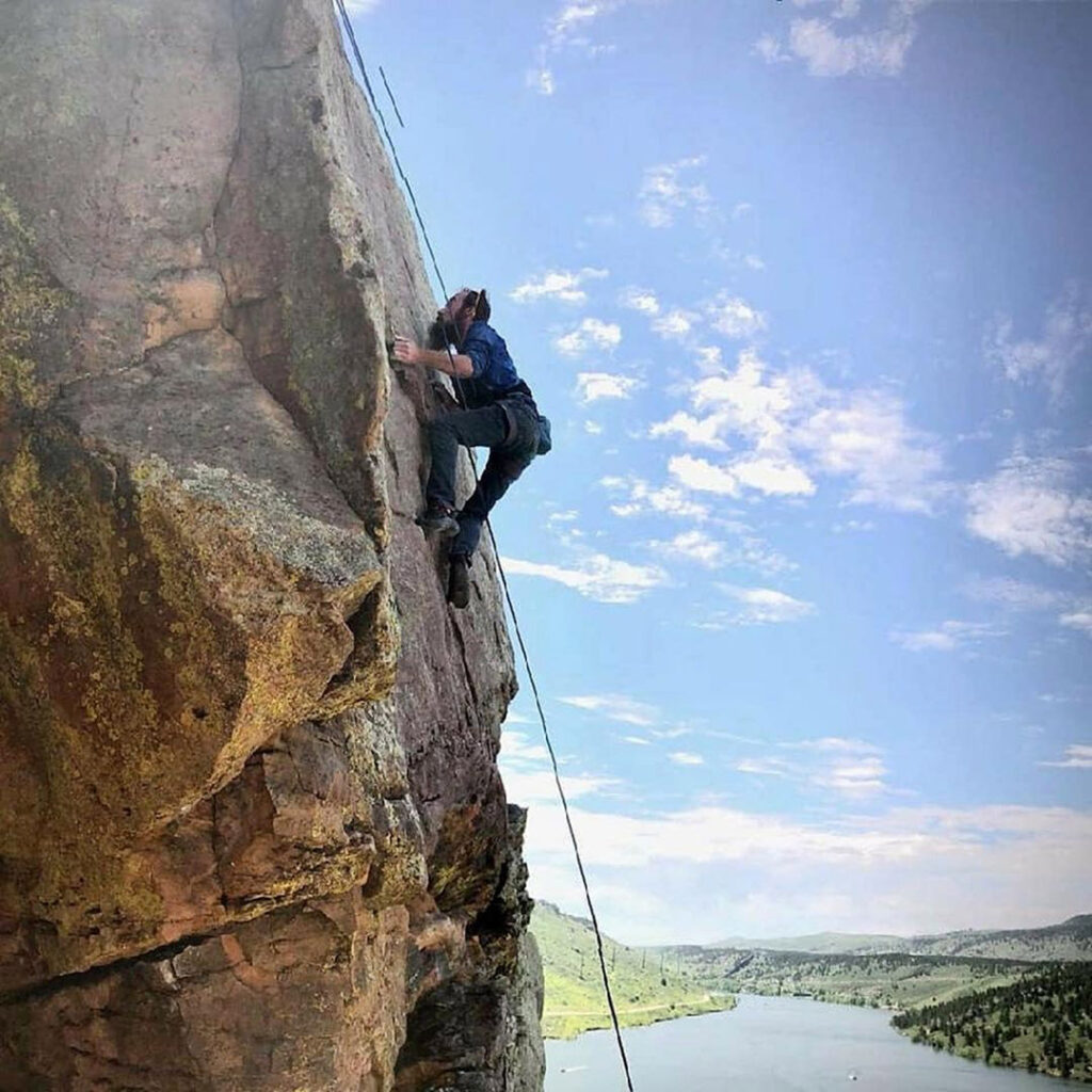 Climbing at Horsetooth Reservoir