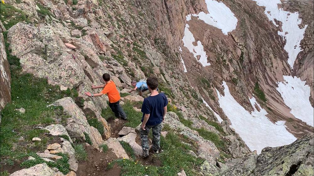 Climbing a fourteener