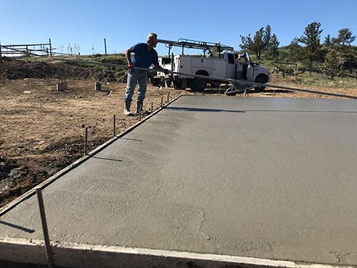 Concrete for Barn Finish