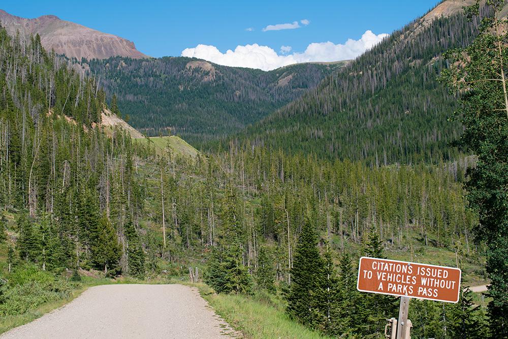 Entering Paid Area in Colorado