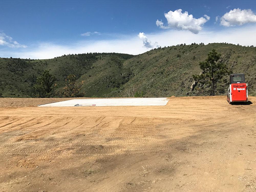Flat Road Base for Barn
