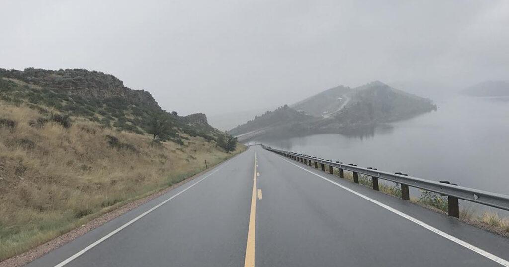 Fog at Horsetooth Reservoir