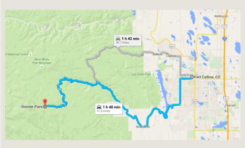 Getting to Donner Pass from Fort Collins