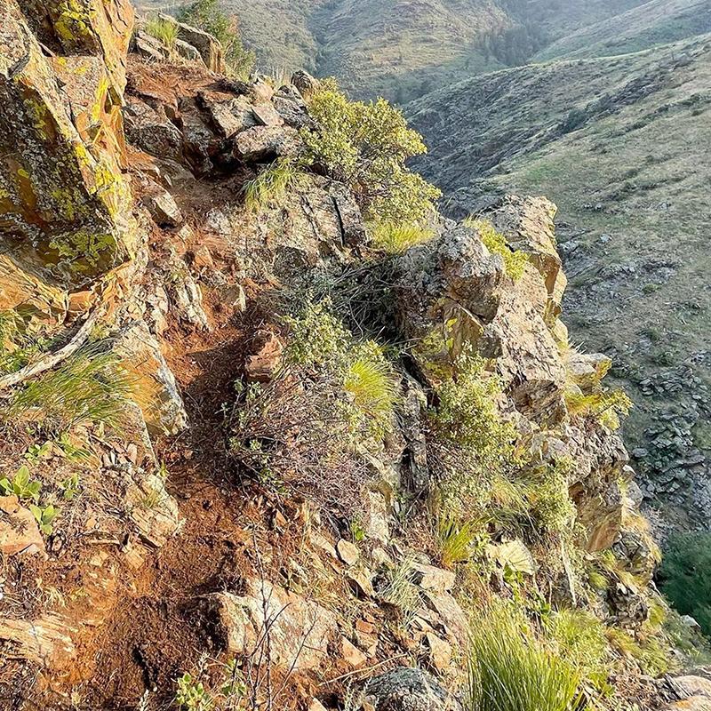 Hiking at Buckhorn Cliffs