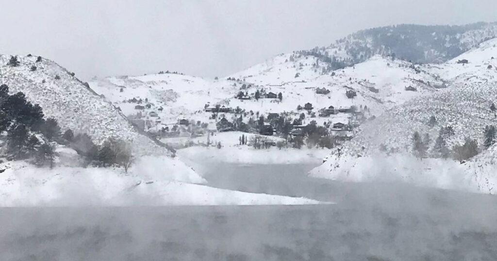 Horsetooth Reservoir in the Winter