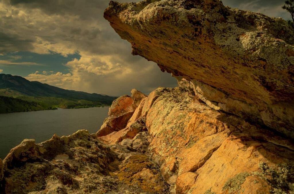 Horsetooth Sunset on the Rocks