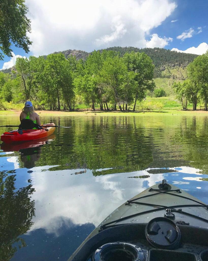 Kayaking Horsetooth Reservoir