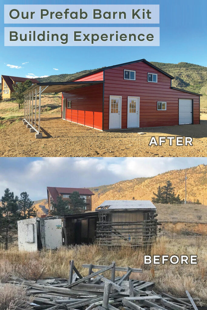 Pinterest Before and After Barn Build