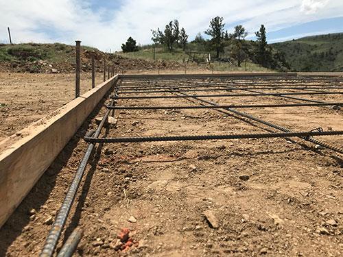Rebar Prep for Barn Foundation