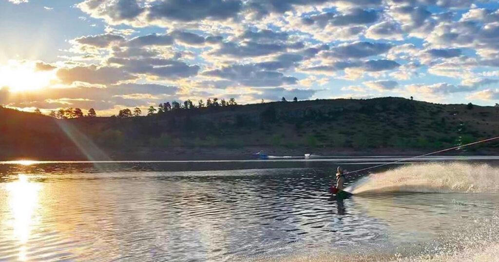 Wakeboarding Horsetooth Reservoir