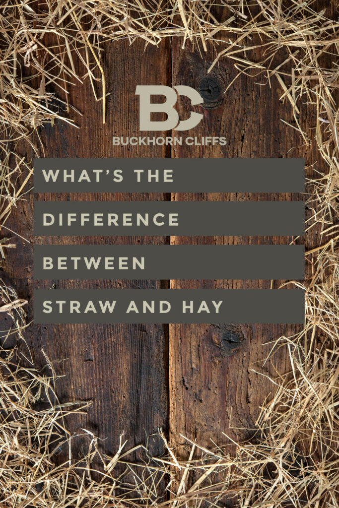What's the difference between straw and hay?